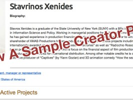 View Sample Creator Page